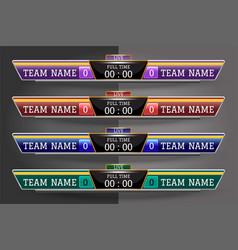 Scoreboard digital screen graphic template for vector