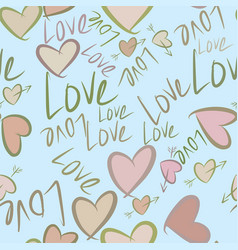 Seamless background or backdrop love vector