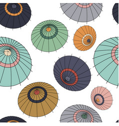 Seamless pattern with colourful japan vector