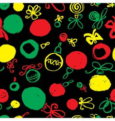 Seamless pattern with decoration balls vector image vector image