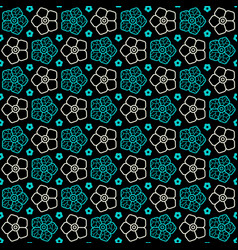 Seamless pattern with image of flowers vector