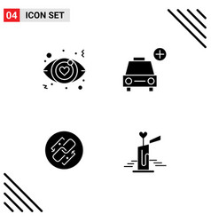Set 4 modern ui icons symbols signs for dating vector