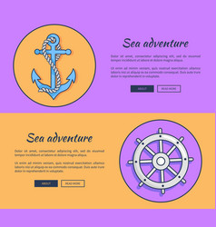 set advertising banners for sea adventures vector image