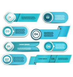 Set of blue progress version step icons eps 10 vector