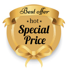 Shopping ad special price and best offer vector