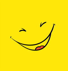 Smile template yellow positive thinking poster vector
