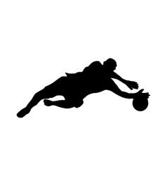 Soccer goalkeeper silhouette vector