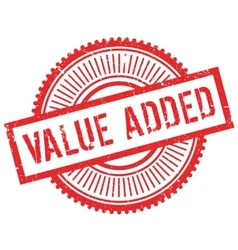Value added stamp vector image