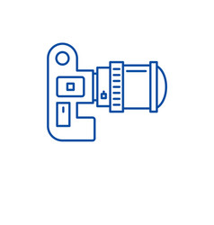 video camera line icon concept video camera flat vector image