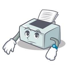 Waiting printer mascot cartoon style vector