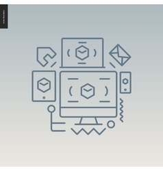 Web design outlined icon vector