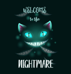 Welcome to nightmare scary halloween poster vector