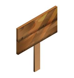 wood panel board icon isometric style vector image