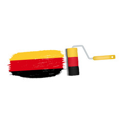 brush stroke with germany national flag isolated vector image