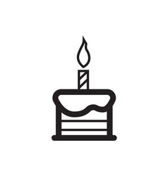 Candle on the cake vector