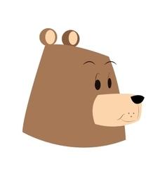 Face bear cartoon comic face vector image