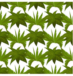 green plants seamless pattern design vector image