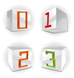 cube alphabet numbers 0123 vector image