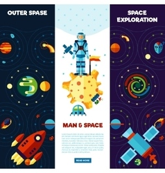 Space Banners Set vector image vector image