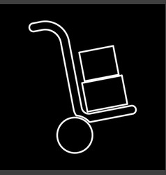 truck with boxes it is icon vector image
