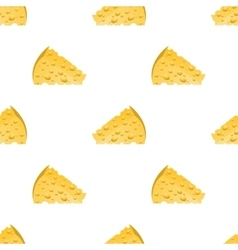 Cheese Slices Seamless Pattern Milk Product vector image vector image