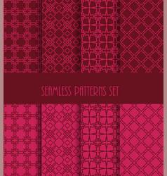 decorative line tile backgrounds vector image vector image
