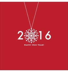 Happy New Year 2016 Design Card vector image