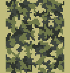 seamless of digital camouflage vector image