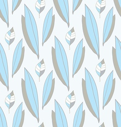 seamless pattern of blue-gray leaves vector image