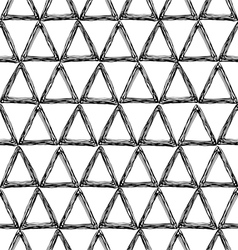 seamless pattern with a triangle vector image vector image