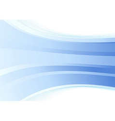 Smooth blue wave background vector image