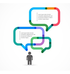 Speech bubble concept background and infographic vector image vector image