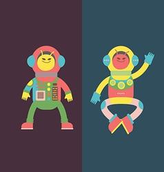Two aliens vector image vector image