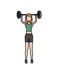 woman with dumbbell to do exercise vector image vector image