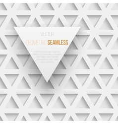 Abstract seamless geometric triangle pattern with vector image vector image
