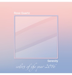 color of the year 2016 vector image vector image