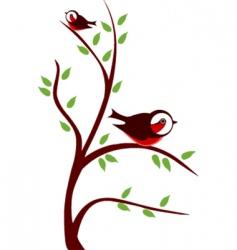 cute birds on tree vector image vector image