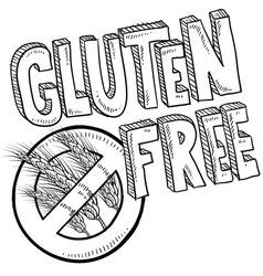 doodle gluten free vector image