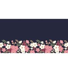 Night garden sakura blossoms horizontal seamless vector image vector image