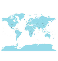 political map of world with in blue eps10 vector image