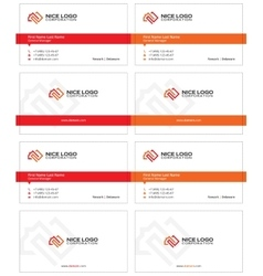 square meter business card 1 vector image