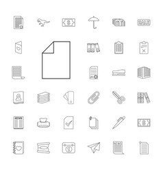 33 paper icons vector image