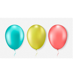 3d realistic colorful balloons vector image
