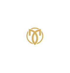 abstract luxury initial company logo vector image