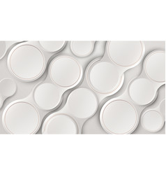 abstract white 3d circles pattern minimalist vector image
