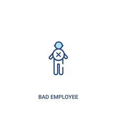 Bad employee concept 2 colored icon simple line vector