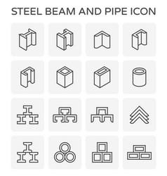 Beam pipe icon vector