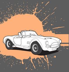 beautiful retro car vector image