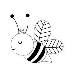 bee insect farm animal isolated icon on white vector image