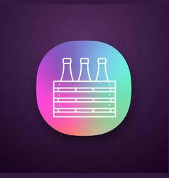beer case app icon vector image
